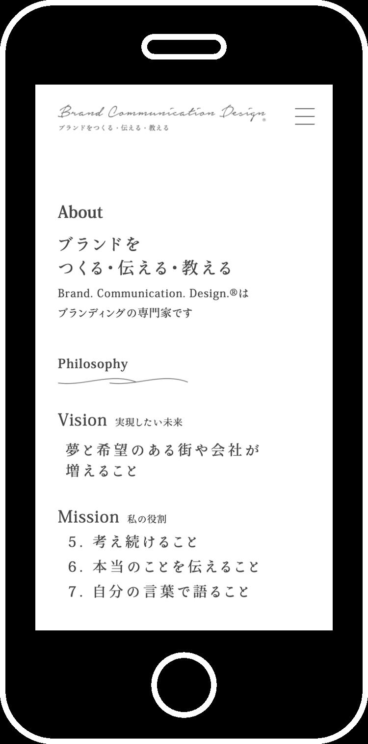 Brand. Communication. Design.® コーポレートサイト制作
