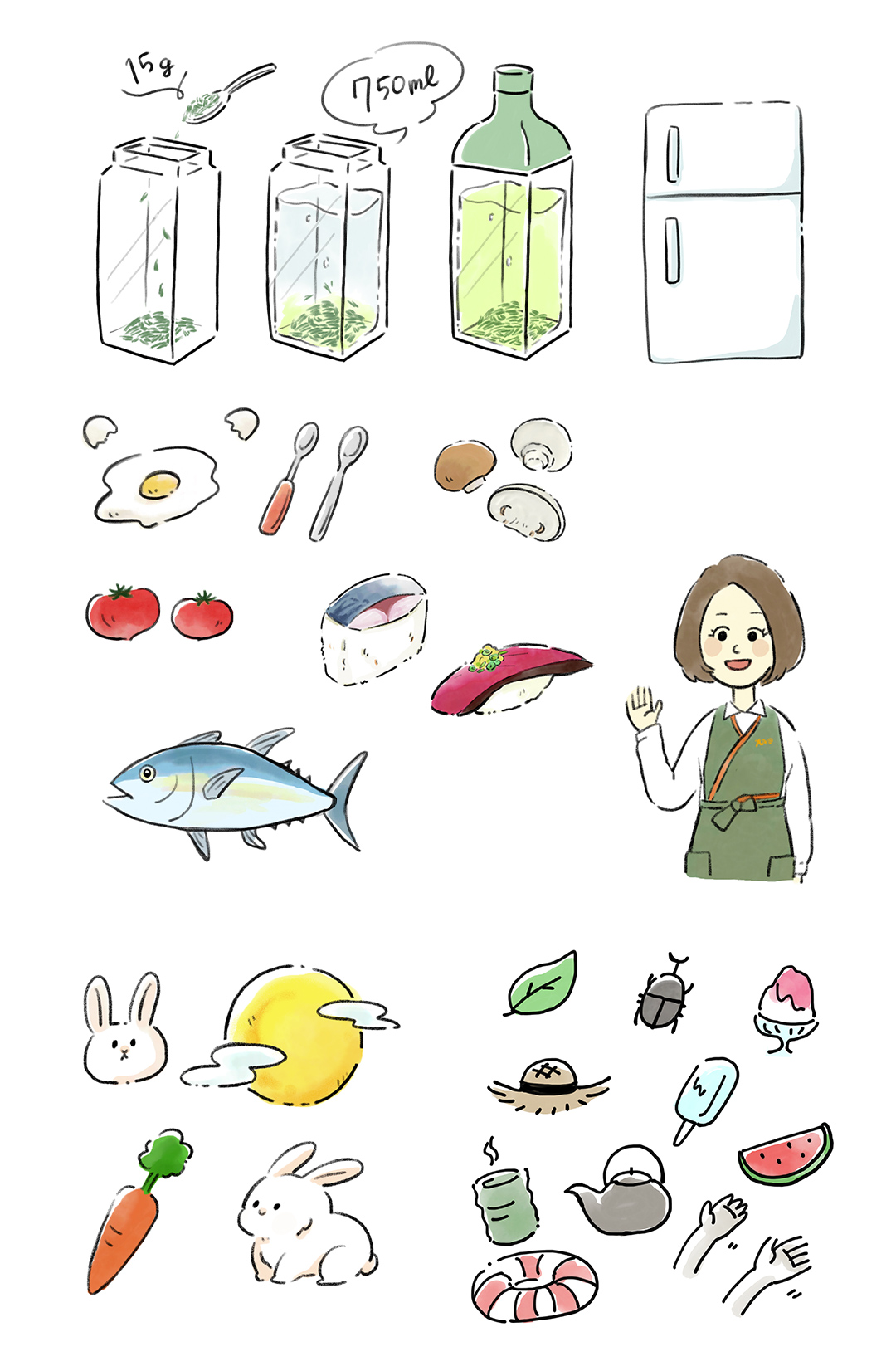 丸玉園 イラスト制作