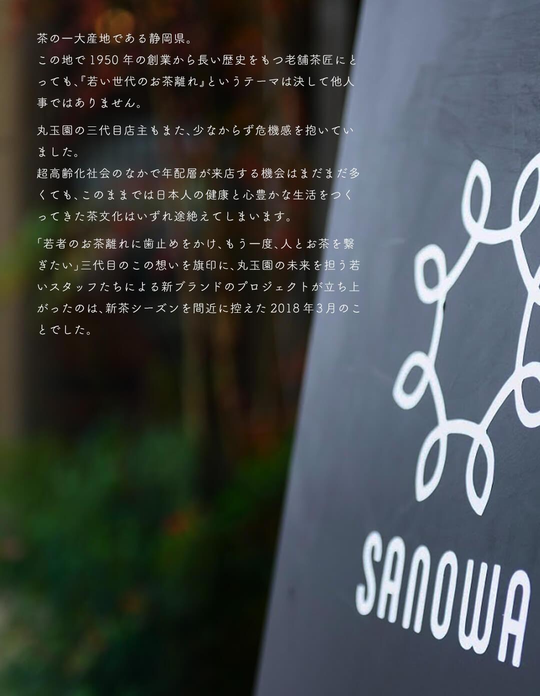 SANOWA ブランドストーリー執筆