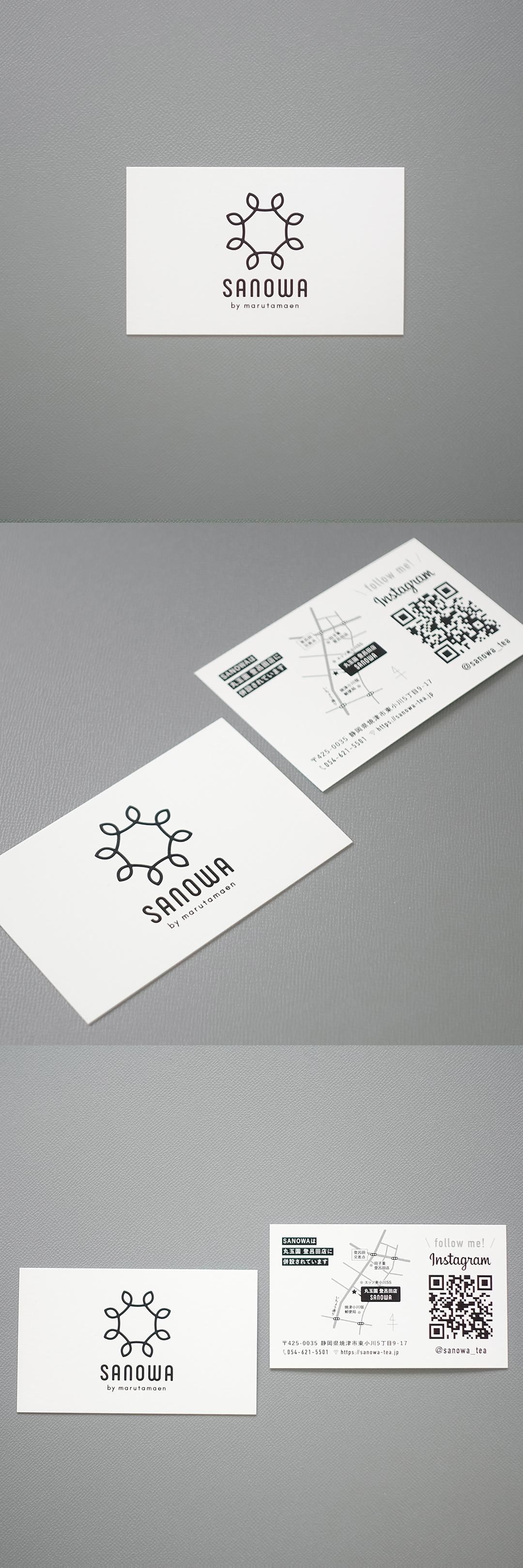 SANOWA ショップカード制作